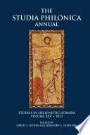 Studia Philonica Annual XXV  2013
