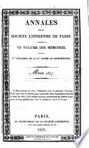 Annales de la Societe Linneenne de Paris