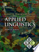 Concise Encyclopedia of Applied Linguistics The Relation Of Knowledge About Language To Decision Making