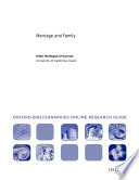 Marriage and Family  Oxford Bibliographies Online Research Guide