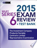 Wiley Series 6 Exam Review 2015   Test Bank