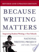 Because Writing Matters Matters Reflects The Most Recent Research