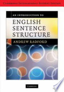 An Introduction to English Sentence Structure International Student Edition