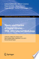 Theory And Practice Of Digital Libraries Tpdl 2013 Selected Workshops