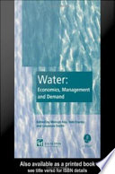 Water  Economics  Management and Demand