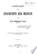 Leitfaden der Geschichte der Medicin