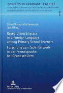Forschung Zum Schrifterwerb in Der Fremdsprache Bei Grundschülern