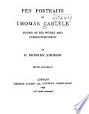 Pen Portraits by Thomas Carlyle