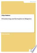 Privatisierung und Korruption in Bulgarien