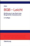 BGB - leicht