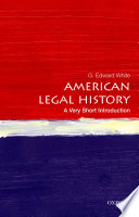 American Legal History A Very Short Introduction