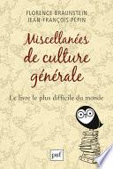 Miscellanées de culture générale