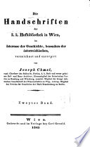 Die Handschriften der K  K  Hofbibliothek in Wien