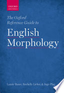 The Oxford Reference Guide To English Morphology book