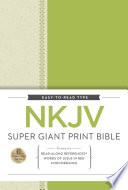 NKJV  Super Giant Print Reference Bible  Giant Print  Hardcover  Red Letter Edition