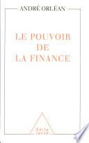 Le pouvoir de la finance