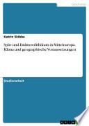 Sp  t  und Endmesolithikum in Mitteleuropa  Klima und geographische Voraussetzungen