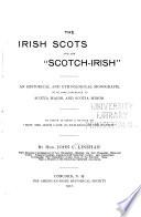 The Irish Scots and the  Scotch Irish