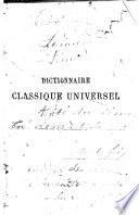 Dictionnaire classique universel français