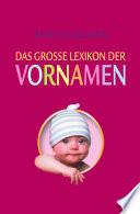 Bertelsmann  Das grosse Lexikon der Vornamen