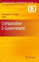 Comparative E-Government Book