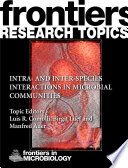 Intra- and inter-species interactions in microbial communities