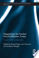 Negotiating the Nuclear Non Proliferation Treaty