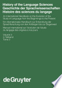 History of the Language Sciences / Geschichte der Sprachwissenschaften / Histoire des sciences du langage. 3. Teilband