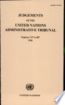 Judgements of the United Nations Administrative Tribunal And Appeals By Individuals Against
