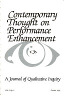Contemporary Thought on Performance Enhancement