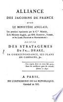 Alliance des Jacobins de France avec le ministre anglais