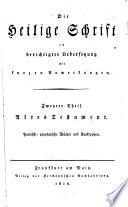 Altes Testament  Poetisch prophetische B  cher und Apokryphen