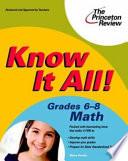 Know It All  Grades 6 8 Math