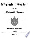 Allgemeiner Anzeiger für das Königreich Bayern
