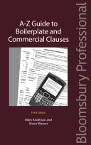 A Z Guide to Boilerplate and Commercial Clauses