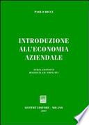 Introduzione all economia aziendale