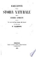 Racconti sulla storia naturale degli esseri animati esposti per servire alla prima istruzione della giovent
