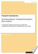 Investment Report   Fundamental Analysis  Ratio Analysis
