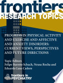 Progress In Physical Activity And Exercise And Affective And Anxiety Disorders Translational Studies Perspectives And Future Directions