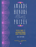 Awards, honors & prizes International and foreign