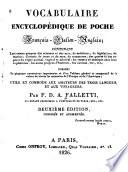Vocabulaire encyclop  dique de poche  fran  ais italien anglais