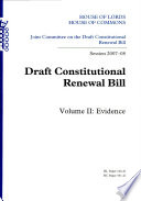 Draft Constitutional Renewal Bill