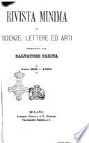 Rivista minima di scienze  lettere ed arti