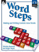 Word Steps  Making and Writing Content Area Words