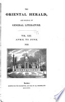 The Oriental Herald and Journal of General Literature