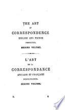 Art de la Correspondance Anglaise Et Fran  aise