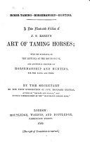 Horse-taming - Horsemanship - Hunting