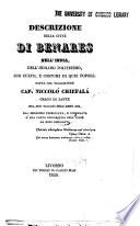 Descrizione della città di Benares nell'India