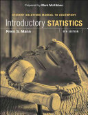 Introductory Statistics 9e Student Solutions Manual