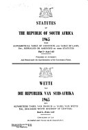 Statutes of the Republic of South Africa